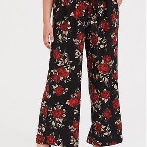 Leith Floral wide leg high waist Palazzo pants